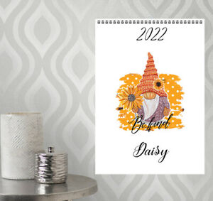 A4 Personalised Gnomes Calendar 12 Months 2022 N9