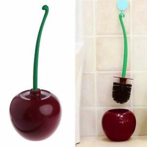 Toilet Brush Creative Cherry Shape Brush Holder Set Sturdy,Cleaning for Toilet