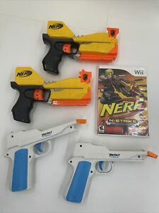Nyko Lot of 2 Perfect Shot Gun Controller Attachments W/ Nerf N-Strike Game Wii