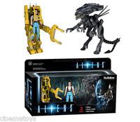 Aliens Ripley + Powerloader + Alien Queen Action Figure Funko Reaction DeluxeBox