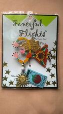 Karen Rossi Silvestri Fanciful Flights Gardener Girl Fashion Lapel Stick PIN (J)
