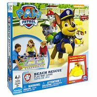 Paw Patrol Beach Rescue inc Rubble, Marshall, rocky & Chase play mat board game