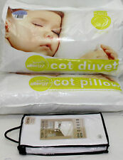 9T Anti Allergy Baby Nursery  Cot Bed Duvet +Pillow + Waterproof Matress Cover