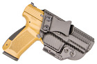 IWB Concealed Carry CCW Kydex Holster with ModWing Claw - Left Hand - Carbon