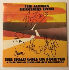 The Allman Brothers Signed X4 The Road Goes On Forever Vinyl LP JSA LOA # Z08645