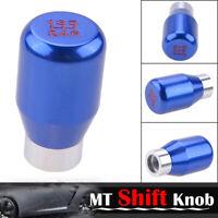New 5 Speed Car Aluminum Gear Shift Lever Knob Manual Shifter Stick Racing Blue