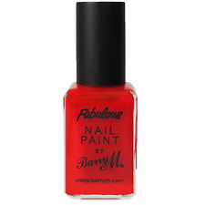 2 x Barry M Fabulous nail paint - Bright Red Nail polish Paint varnish BRAND NEW