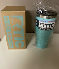 RTIC 40 oz Tumbler Double Wall Vacuum Insulated Teal. Spill Proof.