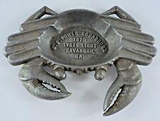 Vintage US Power Squadron Crab Ashtray 1970 Tybee Light - Savannah Georgia