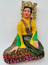 Sabah Bajau Lady Malaysia 3D Resin Tourist Travel Souvenir Collectable Magnet