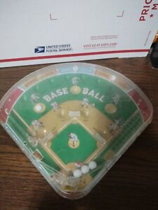 Vintage MARX Baseball Pinball Game Bagatelle Toy Tin & Plastic