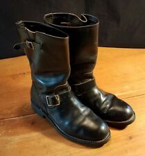 Vtg 1960s Engineer Motorcycle Boots. 8-D Nice