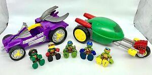 Teenage Mutant Ninja Turtles Half-Shell Heroes Stealth Bike Shred Tread 7 Pc Toy
