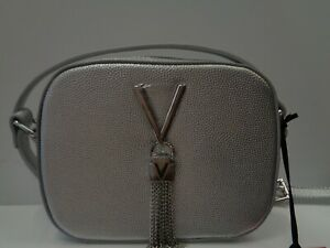 "VALENTINO BAGS Divina Silver Pebbled Camera Bag Ref BAG 265"""