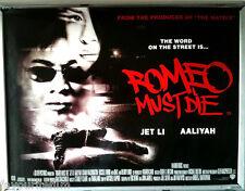 Cinema Poster: ROMEO MUST DIE 2000 (Quad) Jet Li DMX Aaliyah D.B. Woodside