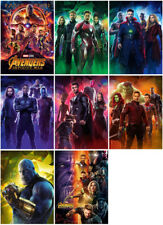 8 Avengers: Infinity War Movie 2018 Mirror Surface Postcard Promo Card Poster D4