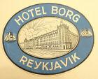 Vintage HOTEL BORG, REYKJAVIK, ICELAND UNUSED LUGGAGE LABEL TAG
