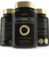 D-Mannose with Cranberry Capsules - 1000mg of D Mannose