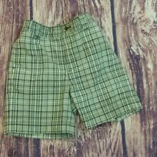 Gymboree green check shorts sz 18-24m