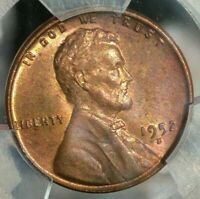 1952 D LINCOLN WHEAT CENT PENNY 1C PCGS CERTIFIED MS 64 RB RED BROWN TONING 4772