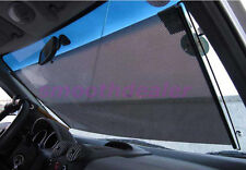 Car Auto Window Roll Blind Sunshade Windshield Sun Shield Visor 58 x125cm Black