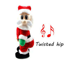 Christmas Xmas Santa Claus Figure Twisted Hip Twerking Singing Electric Toy Gift