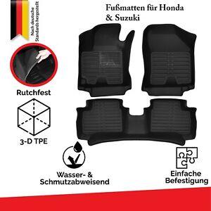 Allwetter TPE Neu Fußmatten Set Für Honda & Suzuki 100% Passgenau 3D Automatten