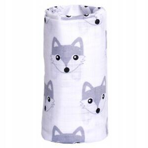 ✅1pcs LARGE 70X80 CM FOX COTTON BABY MUSLIN SQUARES CLOTHS COMFORTER BURP TOWEL
