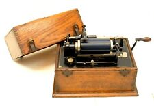 EARLY ANTIQUE EDISON STANDARD PHONOGRAPH MODEL A? IN SQUARE OAK CASE
