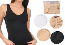 2 er Pack Damen Unterhemd, Ausschnitt gerafft, schwarz weiß beige wählbar #12714