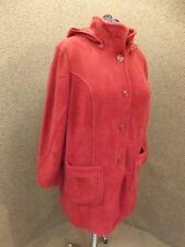 Red Ochre NEW Cozy No Pill Fleece Detach Hood Jacket Coat Womens 20W Super Comfy