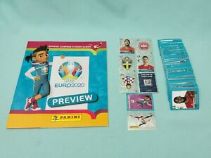 Panini Euro EM 2020 Preview Komplett Set alle 568 Sticker + Sammelalbum