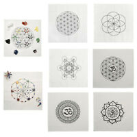 Crystal Grid Cloth Healing Sacred Geometry Altar Cloth Stones Fractal Array Grid