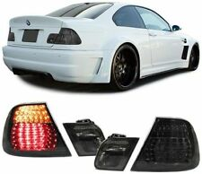 ALL SMOKED LED REAR TAIL LIGHTS LAMPS FOR BMW E46 PRE-FACELIFT COUPE 99-03