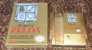 The Legend of Zelda NES Nintendo REV-A Box With Game 1987 Authentic