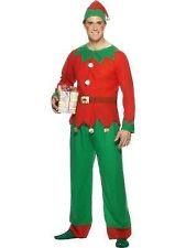 Mens Elf Costume Plus Hat Fun Festive Christmas Fancy Dress Outfit Smiffys 26025 M - Medium