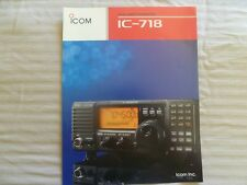 ICOM IC718Transceiver company Brochure color with  features Specs