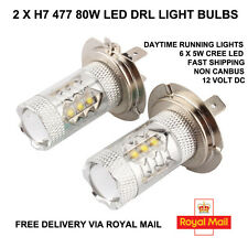 2x H7 477 80W coche CREE XBD LED Lámpara Xenon Blanco Bombillas Drl Faros 12v DC