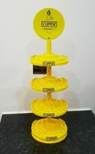Clipper Lighter Display Stand 4 Tier with Sign - Holds 48 lighters per tier