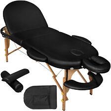 Lettino Massaggi Estetista Massaggio Portatile 3 Zone Nero Nuovo
