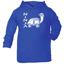 Funny Baby Infants Cotton Hoodie Hoody - Ninja Tortoise
