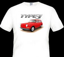 68'  -  71'  VW  TYPE 3  STATION WAGON  VOLKSWAGEN    QUALITY WHITE TSHIRT