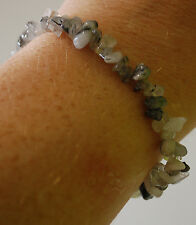Tourmaline en Quartz Chip Bead Crystal Healing Bracelet-Protection