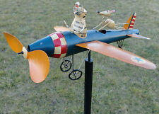 Airplane Wind Spinner Kinetic Whirligig Aviator Wind Spinner