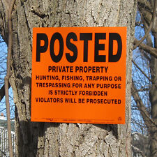 Lot of 200 POSTED Private Property Hunting Signs