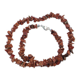 """GOLDSTONE 18"""" CHIP NECKLACE W/ STERLING SILVER CLASP"""