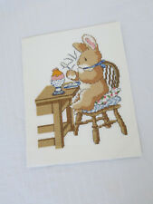Stunning vintage piece of cross stitch Child's Room? see photos