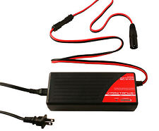 VMAX BC2403 + XLR 3 Pin Male Plug 24V 3 Amp 4-Stage Smart Battery Charger