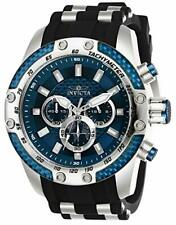 Invicta Speedway SCUBA 50mm Stainless Steel Case with Black Silicone Strap Men's Wristwatch
