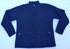 Adidas full-zip wool sweater men sz M black/white cardigan sweatshirt 2004